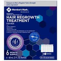 Member's Mark Minoxidil 5%, Hair Regrowth Treatment for Men (2 fl. oz., 6 ct.)