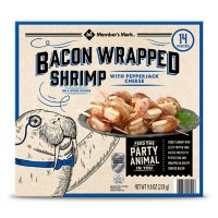 Member's Mark Bacon Wrapped Shrimp with Pepper Jack Cheese, Frozen (14 ct.)