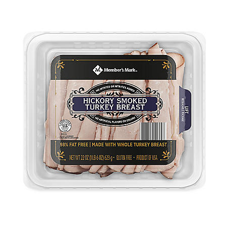 Member's Mark Hickory-Smoked Turkey Breast, Sliced (22 oz.)
