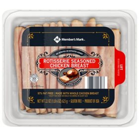 Member's Mark Rotisserie Seasoned Chicken Breast, Sliced (22 oz.)