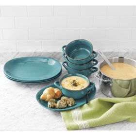 Member's Mark 8-Piece Bowl and Platter Set (Assorted Colors)