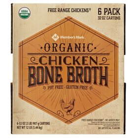 Member's Mark Organic Chicken Bone Broth (32 oz., 6 pk.)