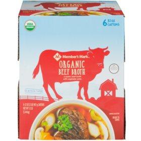 Member's Mark Organic Beef Broth (32 oz., 6 pk.)