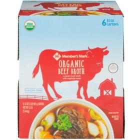 Member's Mark Organic Beef Broth (32 oz., 6 pk.)