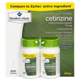 Member's Mark 10mg Aller-Zyr, Cetirizine HCL (400 ct.)