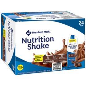 Member's Mark Nutritional Shake, Chocolate (8 oz., 24 ct.)