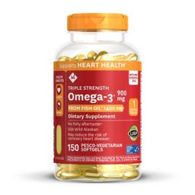 Member's Mark 1400 mg Triple Strength Fish Oil (150 ct.)