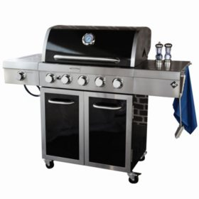 Member S Mark Stainless Steel And Porcelain 5 Burner Gas Grill Sam S Club