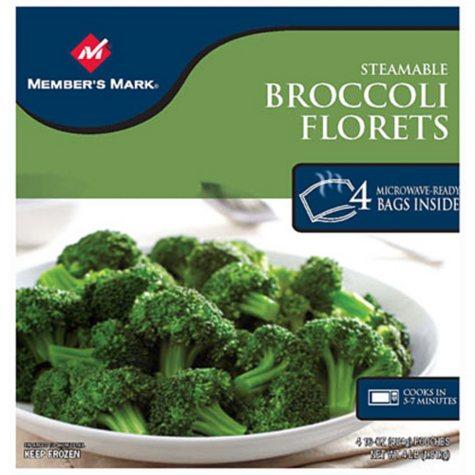 Member's Mark Steamable Broccoli Florets -4/16oz