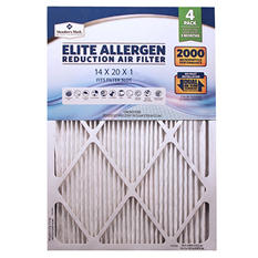 Member's Mark Elite Allergen Reduction Air Filter, 4-Pack (Assorted Sizes)