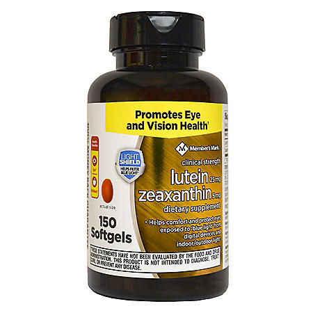 Member's Mark Lutein 25mg Zeaxanthin 5mg (150 ct.)