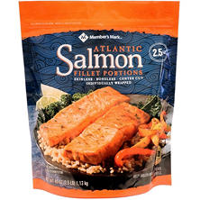 Member's Mark Atlantic Salmon Fillet Portions, Frozen (2.5 lbs.)