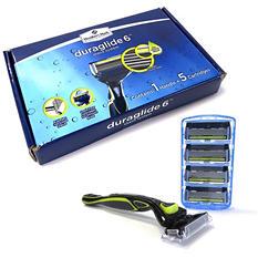 Member's Mark Duraglide 6 Shave System (1 razor, 5 cartridges)
