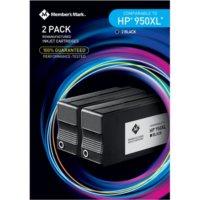 Member's Mark Remanufactured HP 950XL Black 2 Pack