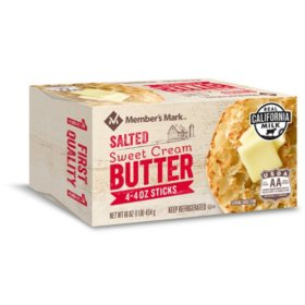Member's Mark Salted Sweet Cream Butter (4 oz. elgin style sticks, 8 ct.)