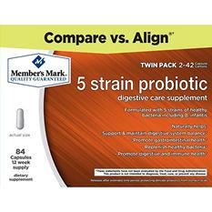 Member's Mark 5-Strain Probiotic Digestive Supplement (42 ct., 2 pk.)