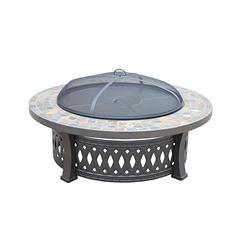 Round Slate Fire Pit Table, 44''