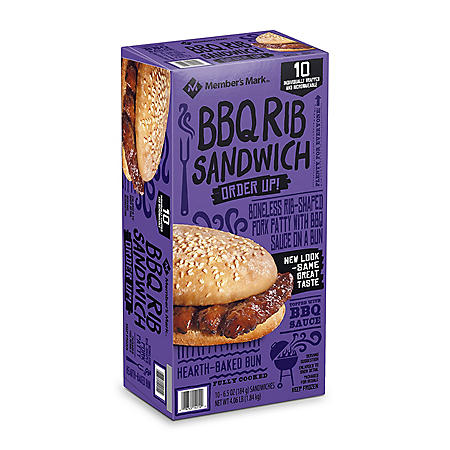 Member's Mark BBQ Rib Sandwich, Frozen (10 ct.)