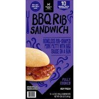 Member's Mark BBQ Rib Sandwich, Frozen (10 ct.)
