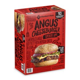 Member's Mark Angus Beef Cheeseburger, Frozen (10 ct.)