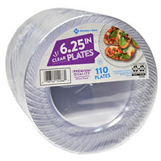 "Member's Mark Clear Plastic Plates, 6.25"" (110 ct.)"