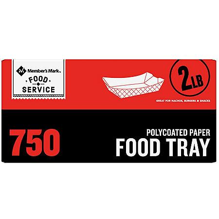 Member's Mark 2lb. Heavy Duty Paper Food Trays (750 ct.)