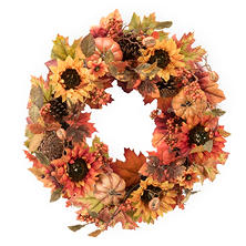 "Member's Mark 26"" Harvest Wreath, Warm Tones"