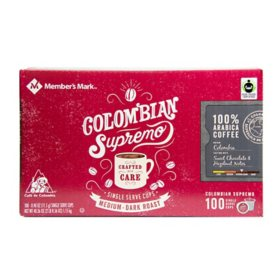 Member's Mark Colombian Supremo Coffee, Single-Serve Cups (100 ct.)