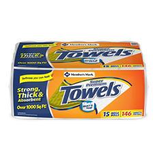 Member's Mark Super Premium, 2-Ply Paper Towels (15 Rolls, 146 Sheets per Roll)