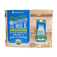 Member's Mark Organic 2% Milk (1/2 gal., 3 ct.)