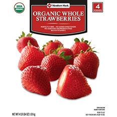 Member's Mark Organic Whole Strawberries (4 lb.)