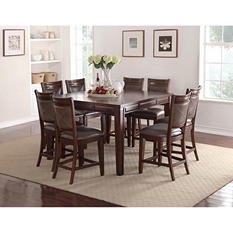 Audrey Counter-Height Table and Chairs, 9-Piece Dining Set