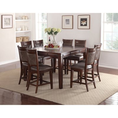 Memberu0027s Mark Audrey Counter Height Table And Chairs, 9 Piece Dining Set
