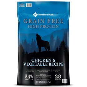 Member's Mark Grain-Free Chicken & Vegetable Recipe Dry Dog Food (28 lbs.)