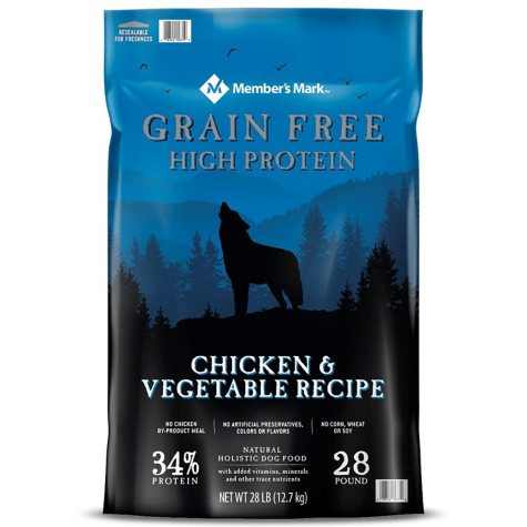 Member's Mark Grain-Free Chicken & Vegetable Recipe Dry Dog Food (28 lb.)