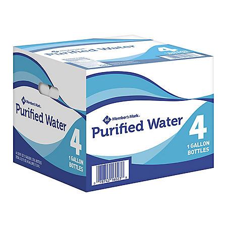 Member's Mark Purified Water (1 gal./4 pack)