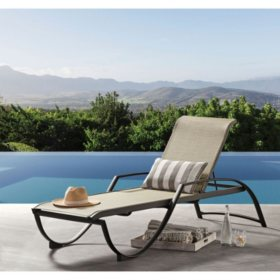 Outstanding Aluminum Sling Chaise Lounge Sams Club Unemploymentrelief Wooden Chair Designs For Living Room Unemploymentrelieforg