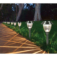 Solar LED Pathway Lights, 10-Pack