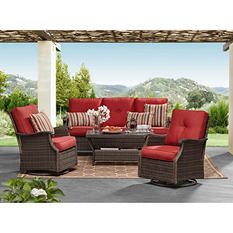Member's Mark Agio Stockton Seating Set (Berry)