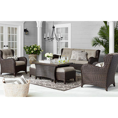 Heritage Auto Group >> Member's Mark Heritage Deep Seating Set with Sunbrella Fabric by Agio - Sam's Club