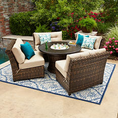 Member's Mark Avery Sunbrella Seating Set with Built-in Beverage Cooler