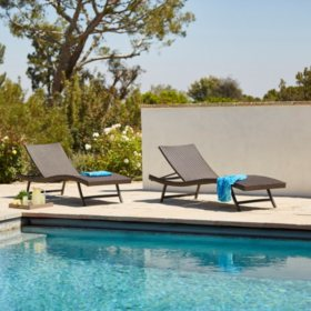 Members Mark Stackable Woven Chaise Lounge  Pk Sams Club