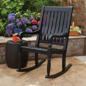 Cool Members Mark Painted Porch Rocker In Black Sams Club Bralicious Painted Fabric Chair Ideas Braliciousco
