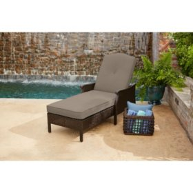 Member's Mark Agio Heritage Woven Cushioned Chaise Lounge with Sunbrella® Fabric