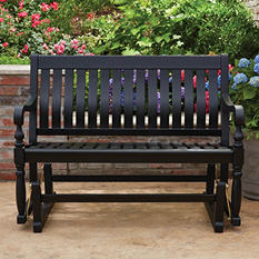 Member's Mark Painted Wood Glider Bench (Black)