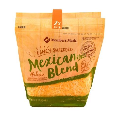 Member's Mark Mexican Blend Shredded Cheese (2 pk., 3 lbs.)