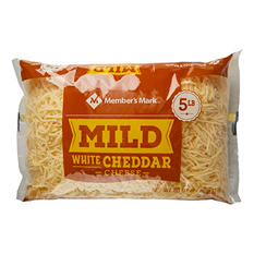 Member's Mark Mild White Cheddar Shredded Cheese (5 lbs.)