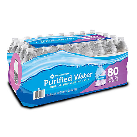 Member's Mark Purified Bottled Water (8oz / 80pk) - Sam's Club