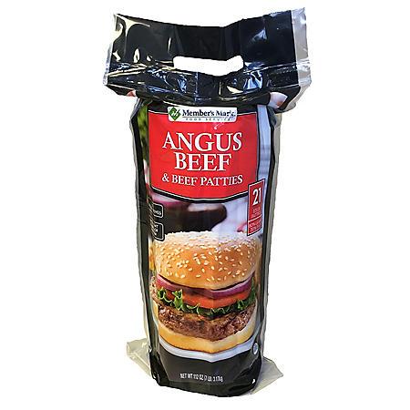 Member's Mark Angus Beef & Beef Patties (1/3 lb. patties, 21 ct.)