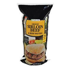 Member's Mark Sirloin Beef Patties (1/3 lb. patties, 21 ct.)